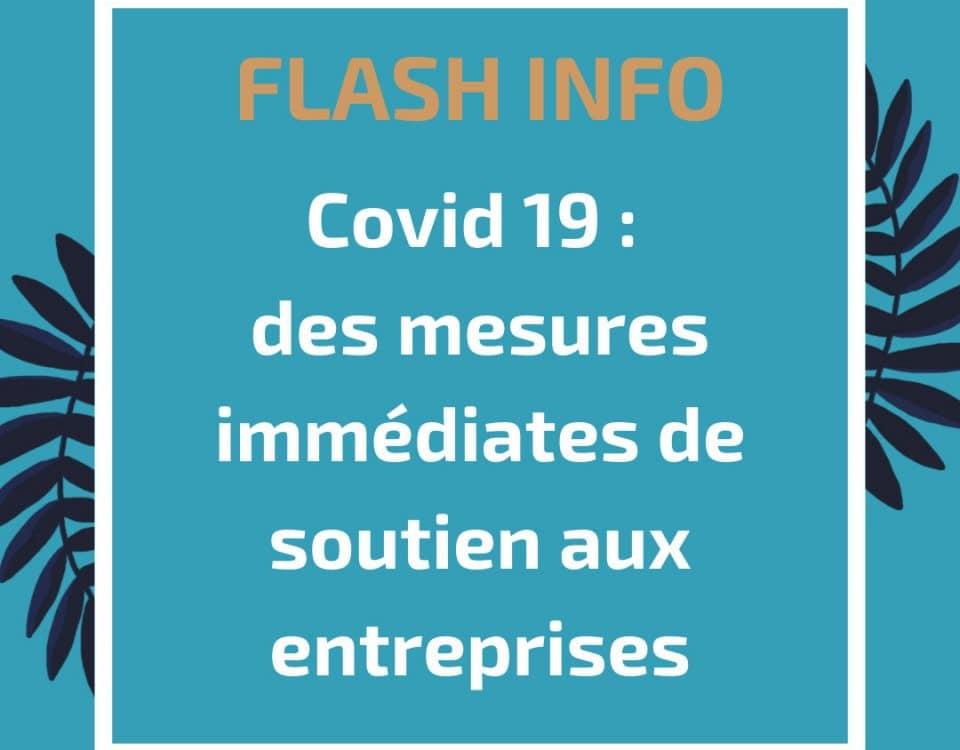 Covid 19 : des mesures immédiates de soutien aux entreprises