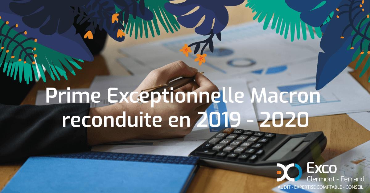 Prime exceptionnelle Macron reconduite en 2019-2020