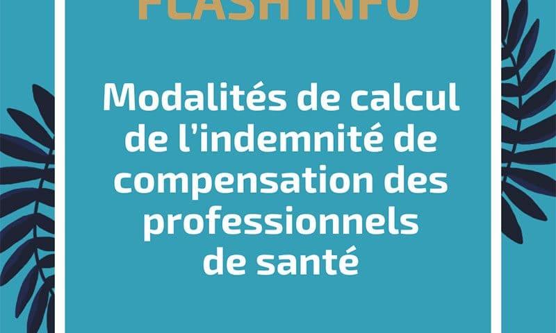 Modalités de calcul de l'indemnité de compensation des professionnels de santé