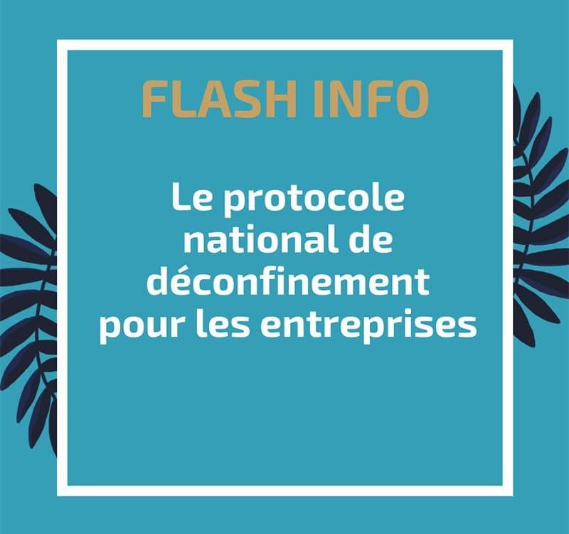 Protocole national de déconfinement pour les entreprises
