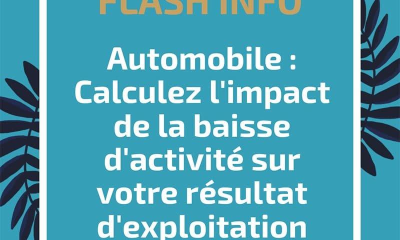 Automobile : Calculez l'impact de la baisse d'activité sur votre résultat d'exploitation