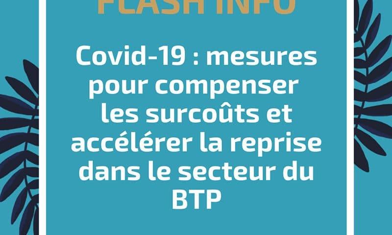 Covid-19 : mesures pour compenser les surcoûts et accélérer la reprise dans le secteur du BTP