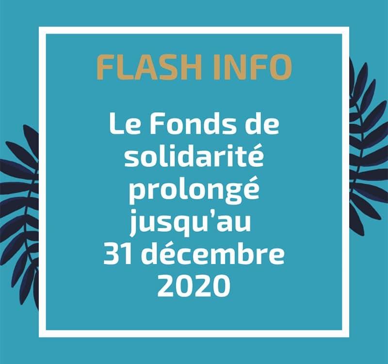 Le Fonds de solidarité prolongé jusqu'au 31 décembre 2020