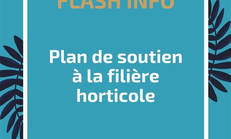 Plan de soutien à la filière horticole