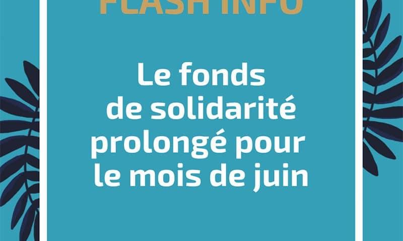 Le fonds de solidarité prolongé pour le mois de juin