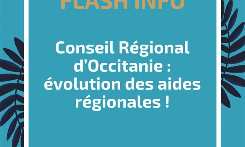 Conseil Régional d'Occitanie : évolution des aides régionales !