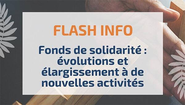 Fonds de solidarité : évolutions et élargissement à de nouvelles activités