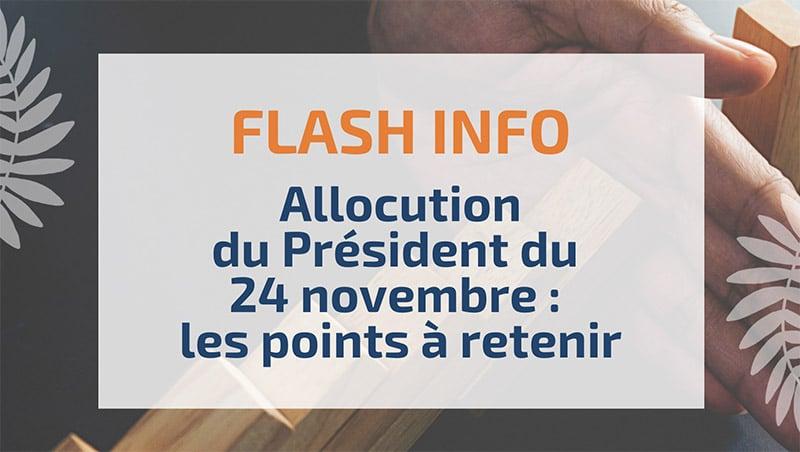 Allocution du Président du 24 novembre : les points à retenir
