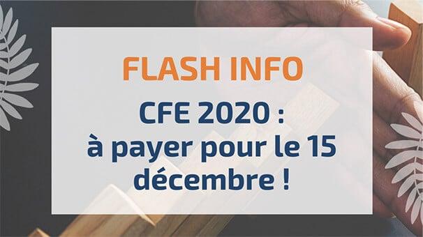 CFE2020: à payer pour le 15décembre!