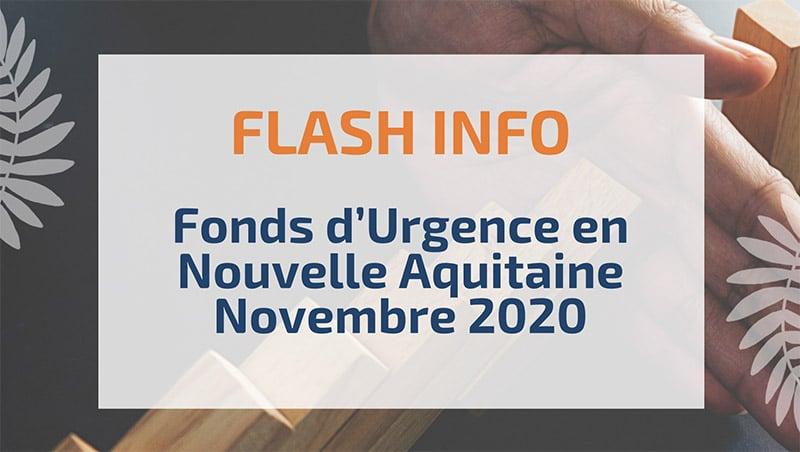 Fonds d'Urgence en Nouvelle Aquitaine Novembre 2020