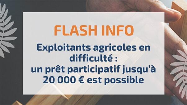 Exploitants agricoles en difficulté: un prêt participatif jusqu'à 20000€ est possible