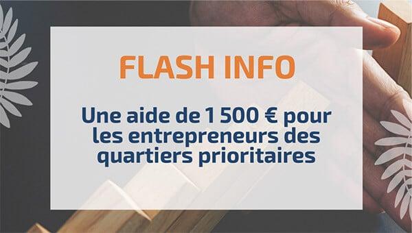 Une aide de 1500€ pour les entrepreneurs des quartiers prioritaires