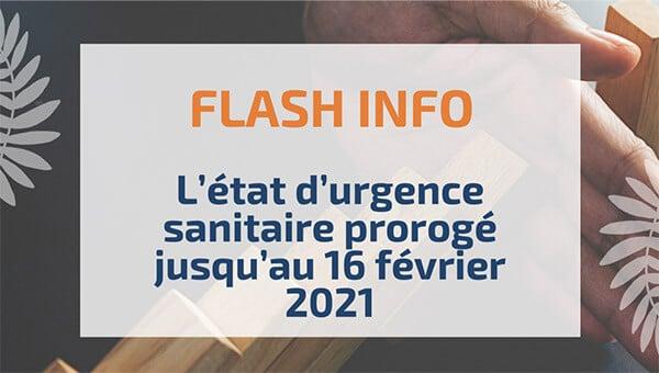 L'état d'urgence sanitaire prorogé jusqu'au 16février 2021