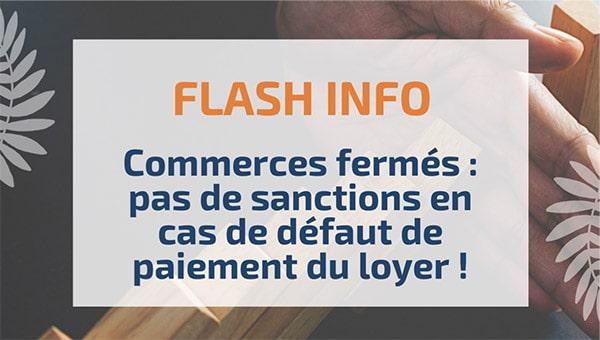 Commerces fermés: pas de sanctions en cas de défaut de paiement du loyer!