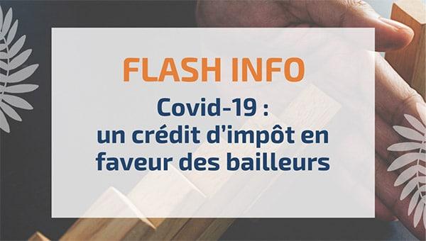 Covid-19: un crédit d'impôt en faveur des bailleurs