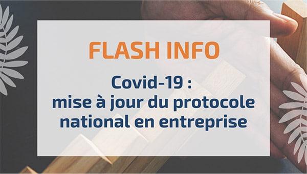 Covid-19 : mise à jour du protocole national en entreprise