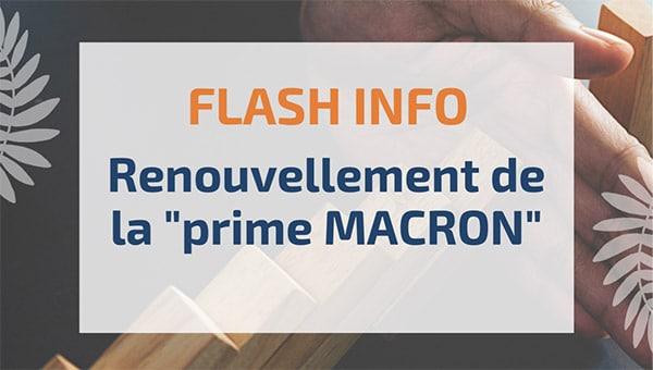 """Renouvellement de la """"prime MACRON"""""""