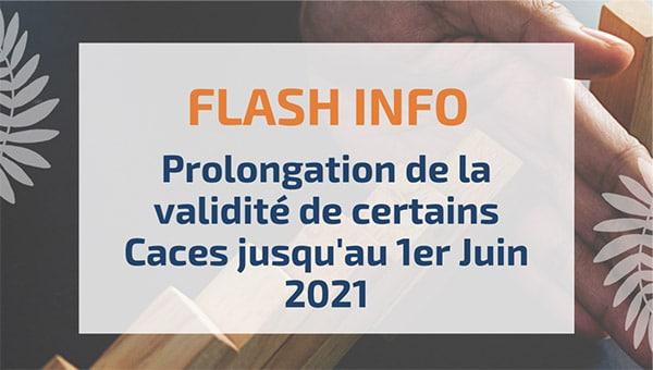 Prolongation de la validité de certains Caces jusqu'au 1er Juin 2021