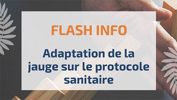 Adaptation de la jauge sur le protocole sanitaire