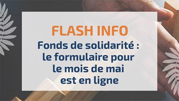 Fonds de solidarité : le formulaire pour le mois de mai est en ligne