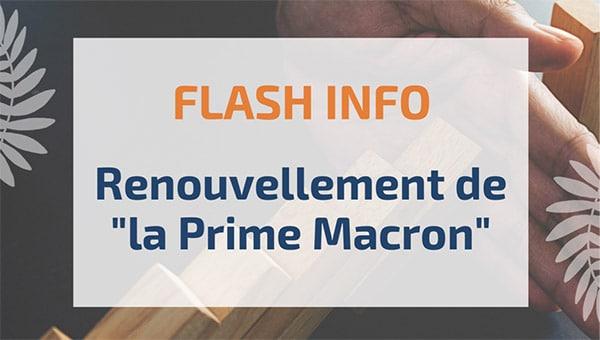 """Renouvellement de """"la Prime Macron"""""""