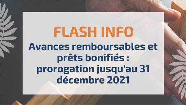 Avances remboursables et prêts bonifiés: prorogation jusqu'au 31décembre2021