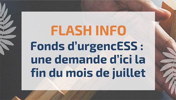 Fonds d'urgencESS: une demande d'ici la fin du mois de juillet